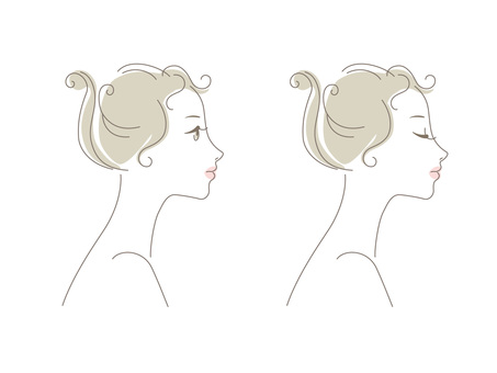 Woman_ line drawing _ profile