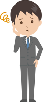 Male | salaried worker | suits | troubled face