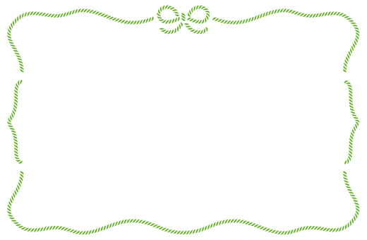 Ribbon frame green