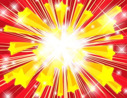 Explosive star _ sparkling yellow