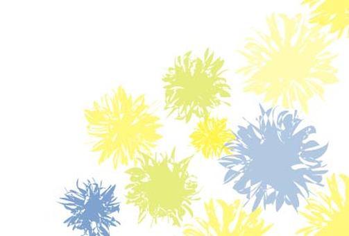Yellow flower elegant greeting card