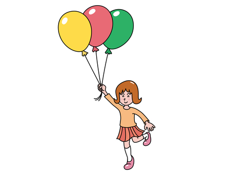 A girl with a balloon