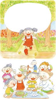 田舎 春の節句 餅作り バラ