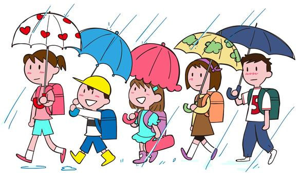 Rusing to groups on rainy days