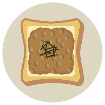 Natto cheese toast