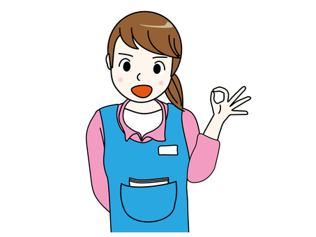 Helper · Nursery teacher's OK pose
