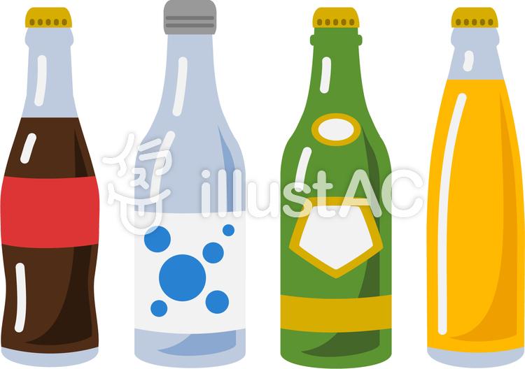 瓶のソフトドリンクイラスト No 1019191無料イラストならイラストac