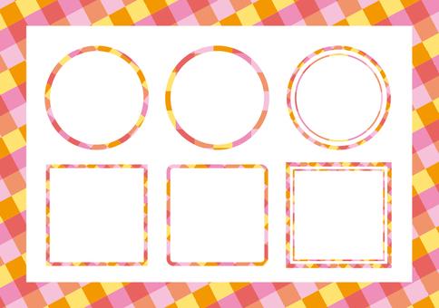 Frame set (warm color)