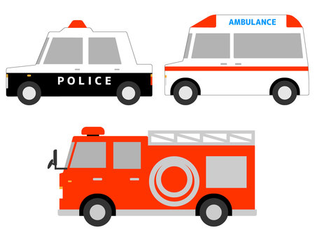 Working car (emergency vehicle) material set modified version
