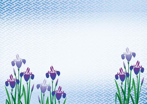 Japanese Pattern - Blue Iris