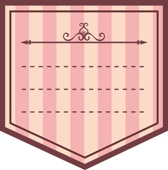 Stripe label pink
