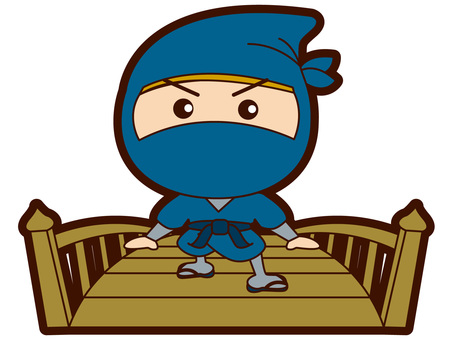 Ninja crossing the bridge