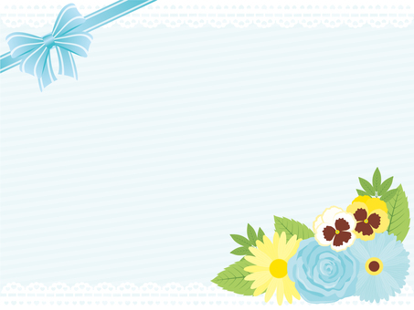 Flower Girly Frame * Blue
