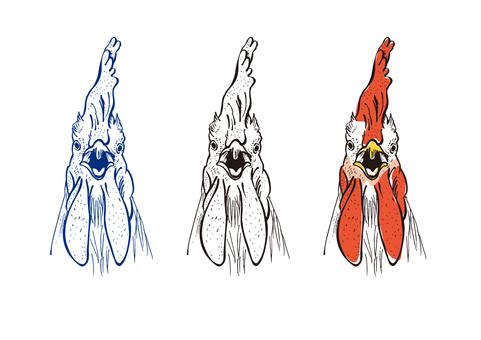 トサカの立派な鶏