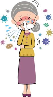 Cold Flu Jaw Mask Granny Medical