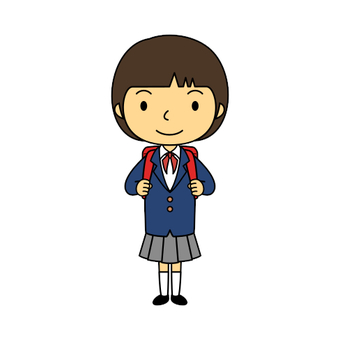 Elementary School Uniform Girl 2