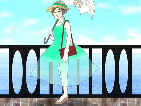 A parasol woman