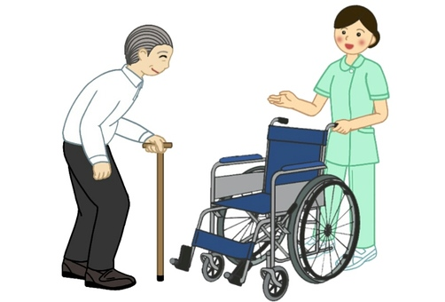 Before nursing and medical scene 1 wheelchair ride