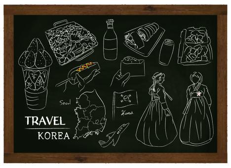 Korea korea soul cheese korea blackboard