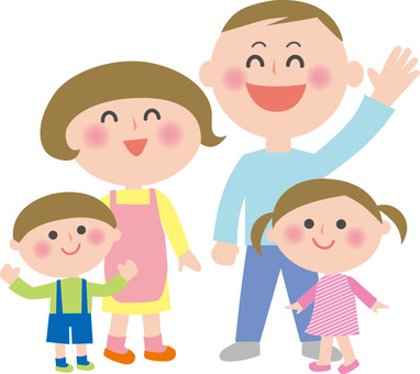 Family Illustration 4 people