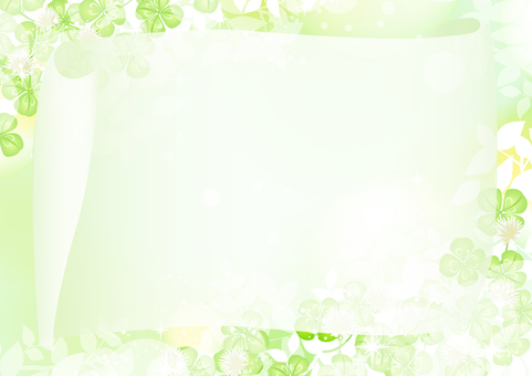 Fresh green clover frame 2