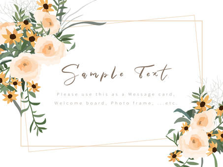 Wedding-style bouquet frame 01