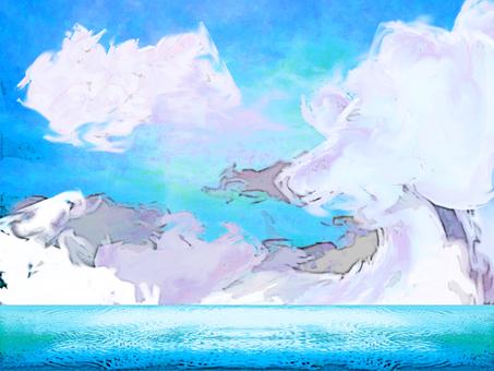 Sea and sky cloud