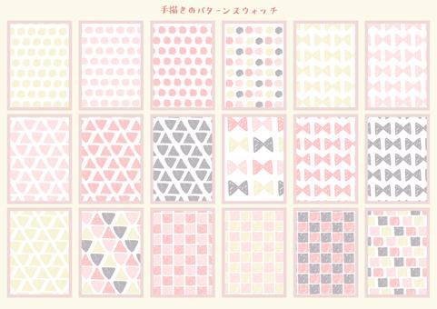 Hand drawn pattern swatch