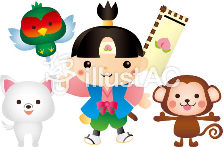 桃太郎と猿犬雉イラスト No 405130無料イラストならイラストac