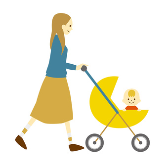 Parent and child of a stroller