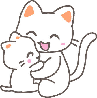 Good parent and child cat