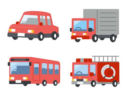 Car Vehicle Ride Set Red