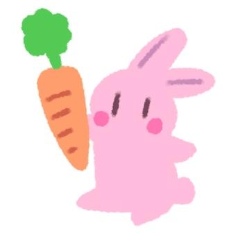 兔子用胡蘿蔔