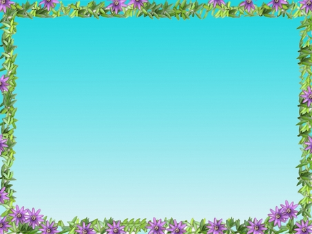 Leaves and purple flowers