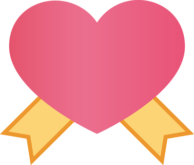 Heart icon with ribbon