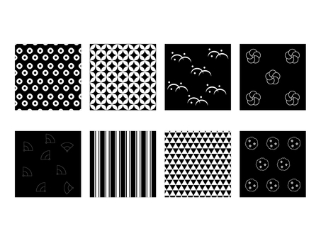 Monochrome Japanese Pattern