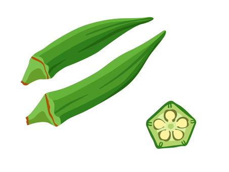 Ingredients_Vegetable_Okra_No line