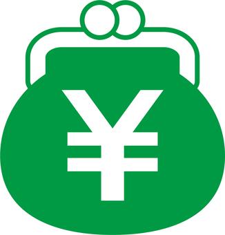 Gamaguchi_ yen mark _ green