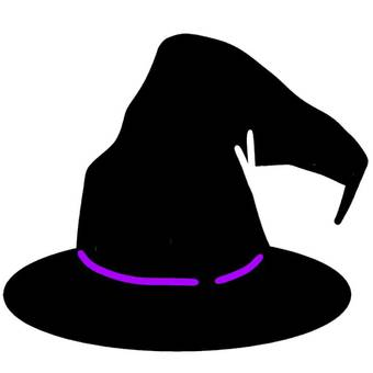Halloween hat masquerade fall october witch