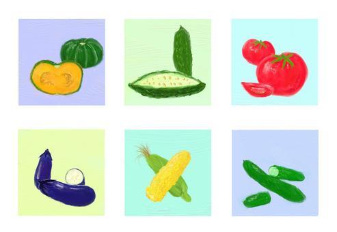 여름 야채 다양한