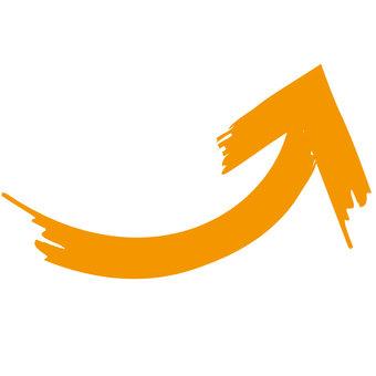 Rising arrow (orange)