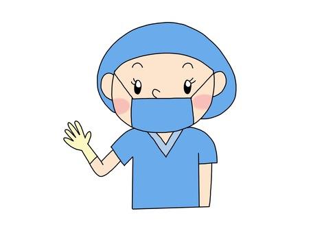 手術室護士藍色