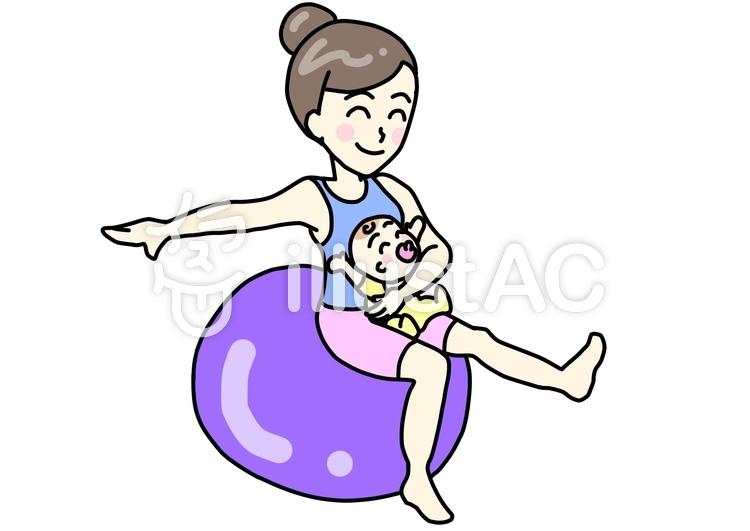 赤ちゃんとバランスボールイラスト No 674339無料イラストなら