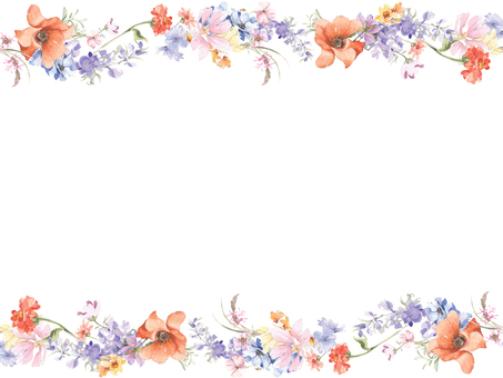 Flower frame 426 Orange flower frame