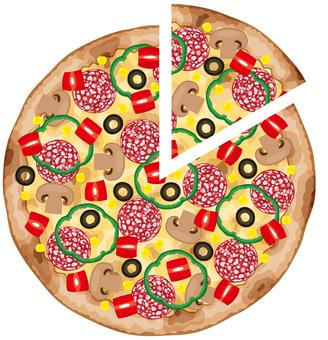 자른 피자 이탈리안 이탈리아 요리