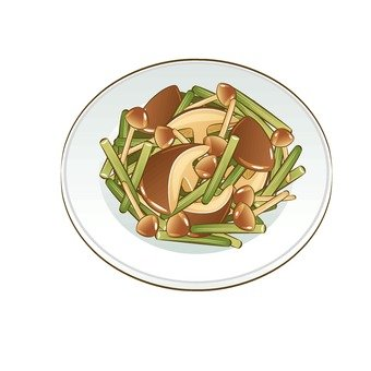 Stir-fry of mushrooms