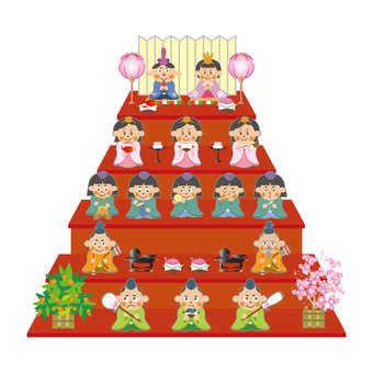 Hina dolls (five stairs)