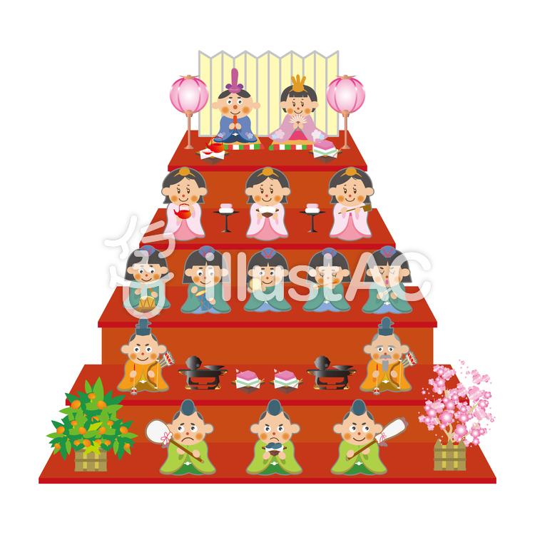 雛人形五段飾りイラスト No 662916無料イラストならイラストac