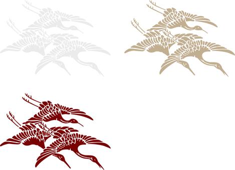 ai Japanese style crane 3 piece set