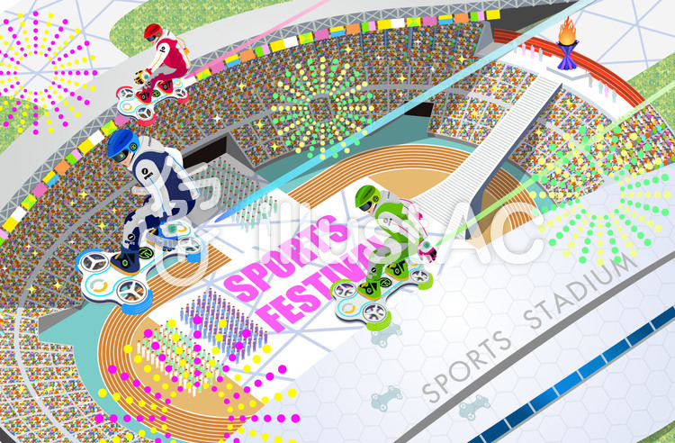 架空のスポーツ大会 セレモニーのイラスト